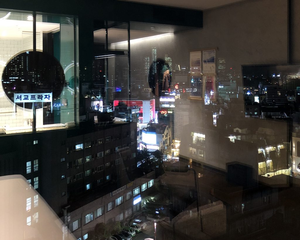 Night view of Hongdae