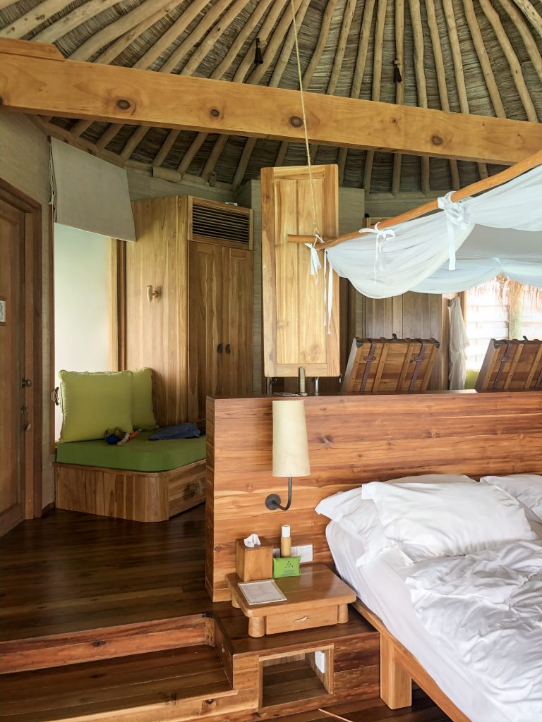 Bed at Six Senses Laamu